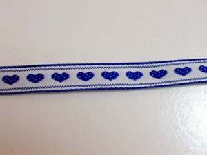 Royal-Blue-Hearts-Embroidered-Jacquard-Ribbon-Sewing-Trim-1-2-inch-x-10-yards