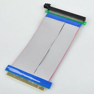 PCI-Express-PCI-E-16X-Slot-Riser-Card-Ribbon-Extender-Extension-20cm-Flex-Cable