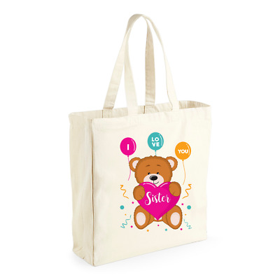 Sister Gift Birthday Bag Personalised To Be Mothers Day Present Tote Gift Idea