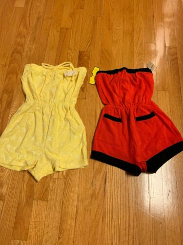 2 Vtg NWT Terry Cloth Romper / Cover Up Jumpsuit m