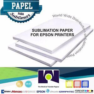 Dye-Sublimation-Ink-Heat-Transfer-Paper-pack-100-Sh-8-5x11-Papel-De-Sublimacion