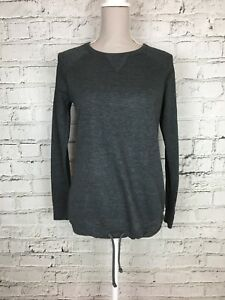 Women-039-s-NEXT-SPORT-Grey-Long-Sleeve-Thin-Activewear-Sweater-Top-Size-8