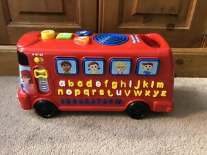 Agressif Vtech Playtime Bus Avec Phonics-afficher Le Titre D'origine