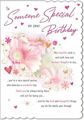 Terrific Someone Special Birthday Card For Her Flowers 9 X 6 25 Funny Birthday Cards Online Unhofree Goldxyz