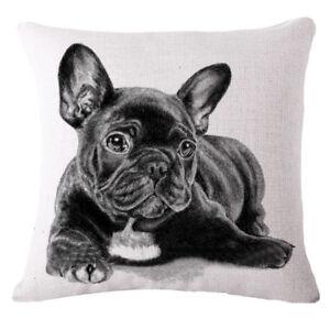French-Black-Bulldog-Animal-Print-Pillow-Case-Sofa-Pillowcase-Dark-Grey-J8O6