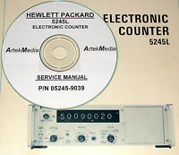 Hp Hewlett Packard 5245l Counter Service Manual (late Serial 's)