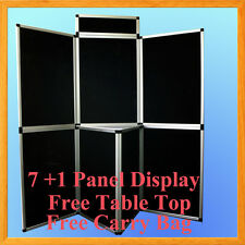 6 71 Black Panel Header Trade Show Display Presentation Tabletop 6ft