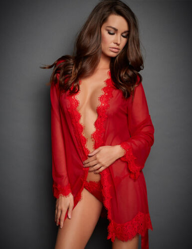 Lingerie Set Babydoll Women Sleepwear String Red G Lace Dress Mesh Nightwear UK8