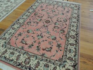 3x5 Silk Wool Traditional Oriental Area Rug Pink Gray Blue Hand Knotted Ebay