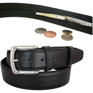 Leather belt for festival hidden zip belt festival accessories secret zip belt
