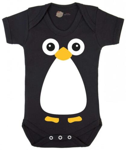 Penguin Bodysuit Baby Penguin Black Body Suit