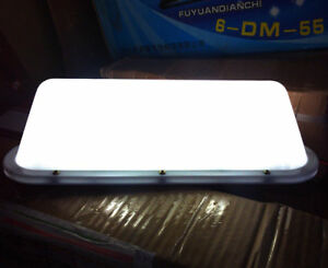 """14/"""" Blank Taxi Cab Sign DIY Roof Top Car Super Bright Light Yellow USB LED"""