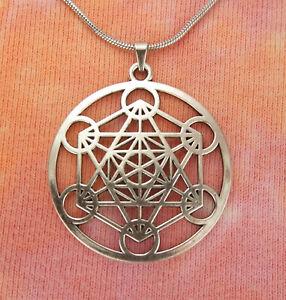 Details about Metatron's Cube Necklace, Sacred Geometry Archangel Metatron  Pendant Medallion