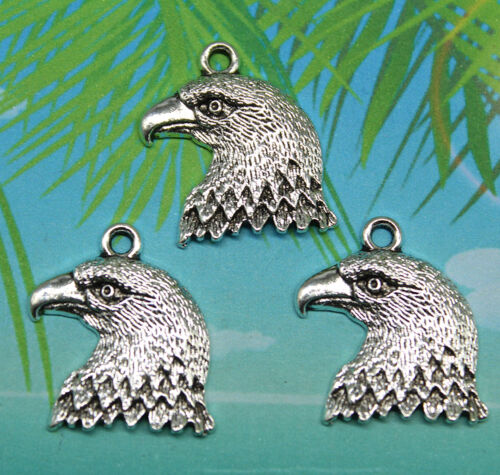 retro style The eagle/'s face  alloy charms pendants 22*20mm