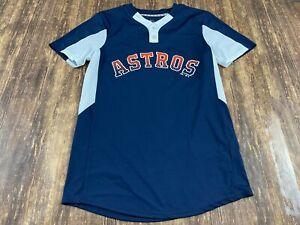 Houston Astros Majestic Cool Base Blue MLB Baseball Jersey - Small