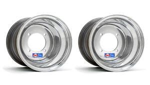 DWT-Polished-Rear-Wheels-Rims-9-034-9x9-4-115-Yamaha-Raptor-700-660-YFZ450-Banshee