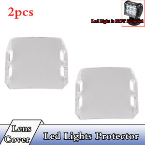 2xClear-Lens-Cover-Lihgts-Protector-For-4-034-inch-18W-LED-Light-Offroad-SUV-ATV