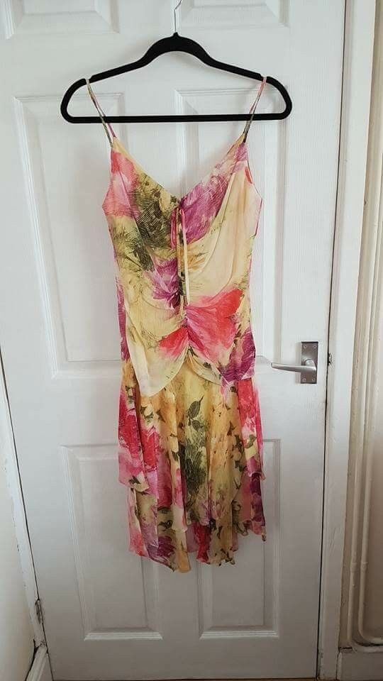 Pink and yellow floral Cartise dress