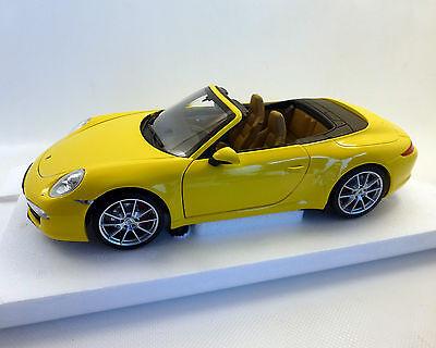Porsche 911 991 carrera s convertible amarillo a partir de 2011 1//18 Minichamps modelo coche con...