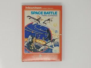 Space-Battle-Intellivision-Complete-Game-Box-Manual-2-Keypad-Covers-No-2612