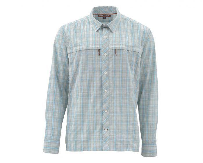 Simms Stone Cold  Long Sleeve Shirt-Celadon Plaid - Size 2XL - Closeout  hot sales