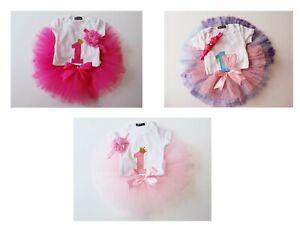 Groovy Baby Girls 1St Birthday Outfit First Party Tutu Skirt Princess Funny Birthday Cards Online Kookostrdamsfinfo