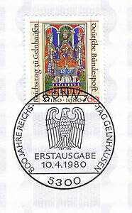 Rfa-1980-Reichstag-Pour-Gelnhausen-No-1045-Avec-Bonner-Timbre-Special-1A