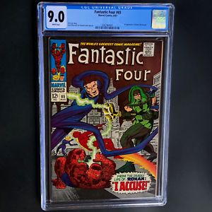 FANTASTIC-FOUR-65-1967-CGC-9-0-WHITE-PGs-1ST-RONAN-KREE-THE-ACCUSER