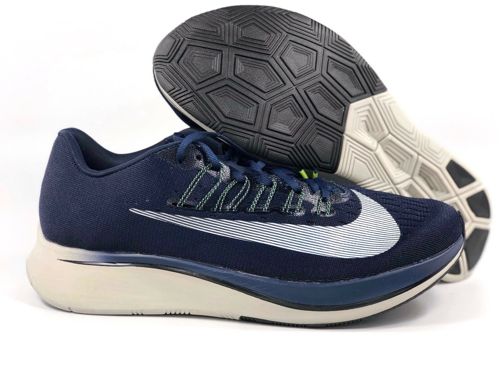 Nike Zoom Fly Obsidian Navy bluee White Running shoes 880848-405 Mens 7.5-13