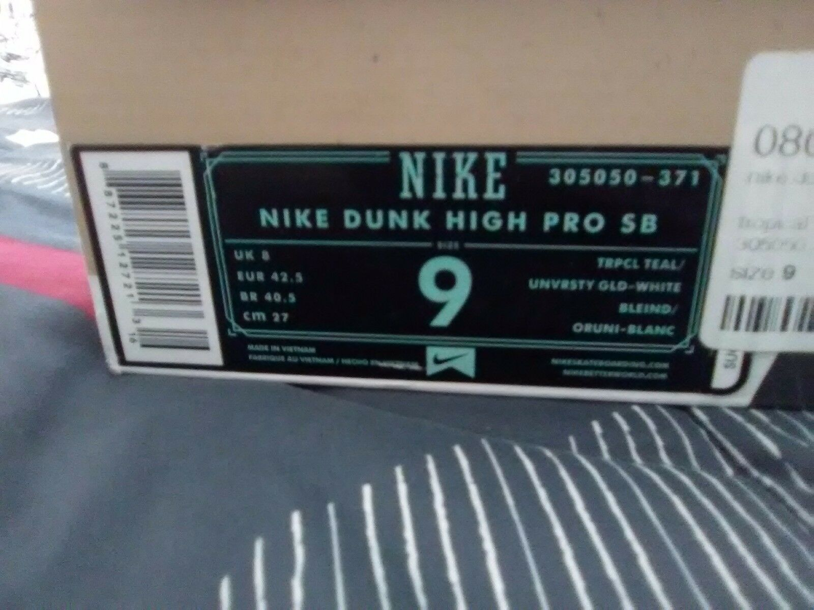 Mens Nike dunk high pro Sb size 9 trpcl teal