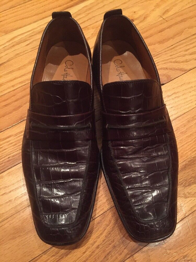 COLE HAAN C05644 braun braun braun ALLIGATOR Embossed LOAFERS 8.5 M 24cbd9