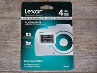 Lexar 4gb Platinum Ii Memory Stick Pro Duo Memory Card Mark 2