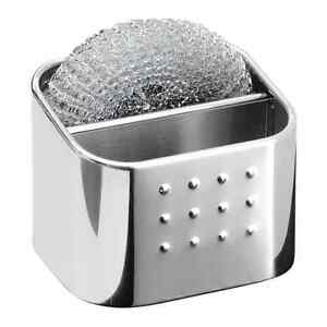 Kitchen Organizer Polished Stainless Steel Sponge/Scrubby Hub/Storage Holder