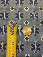 What The Dr Ordered 100% Cotton Fabric Yard Medical Sign Rod Of Asclepius Denim