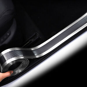 7CM-1M-Car-Sticker-Carbon-Fiber-Rubber-DIY-Door-Sill-Protector-Edge-Guard-Strip