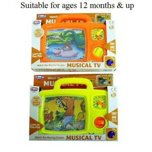 Baby-Toddler-Wind-Up-Musical-TV-Activity-Toy-12-Months-Brand-New