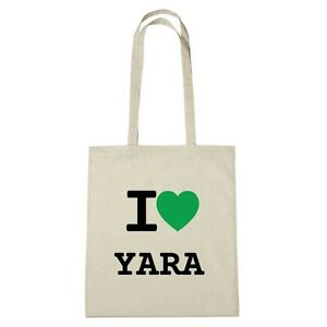 Colore Eco naturale Yara I Love Jute Ambiente Borsa RWqUPn8U