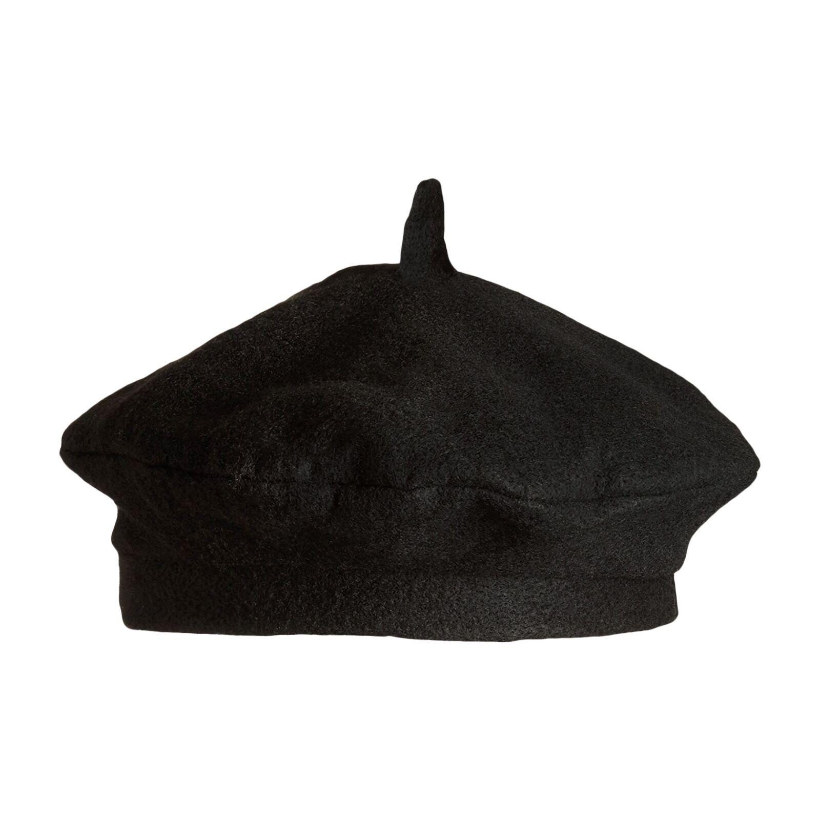 df10b2b655c Details about Black Felt Beret French Frenchman Artist Painter Fancy Dress  Hat