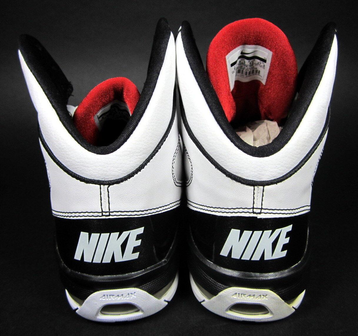 nike air max hochgespielten selten red sportlich weißen schuhe / red selten / schwarze turnschuhe größe 9,5 30a747