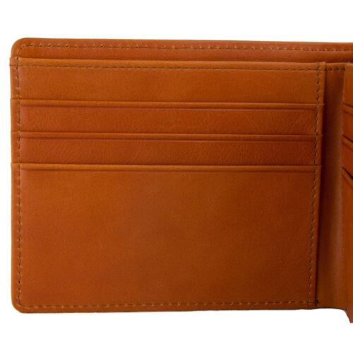 Bullazo fino discreta uomo vera pelle portafoglio con RFID NFC protezione in pelle