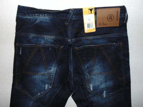 Aged L34 Raw Jeans W32 Denim Tapered star Blue G A Med Crotch Mens ngp6YRqw