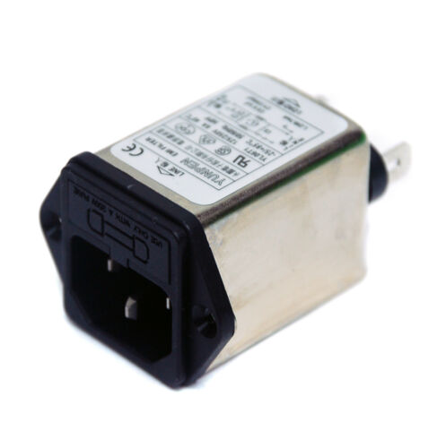 1 1pc EMI Filter HPY Type YL06T1 125//250VAC 6A IEC Inlet Fuse Holder YUNPEN
