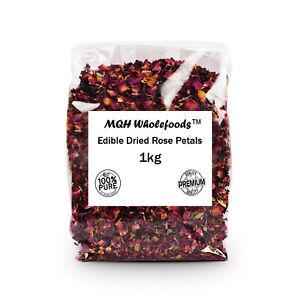 Pétales de Rose-COMESTIBLE & Séchée Qualité Premium! sélectionnez la taille 10g-1kg Free p&p