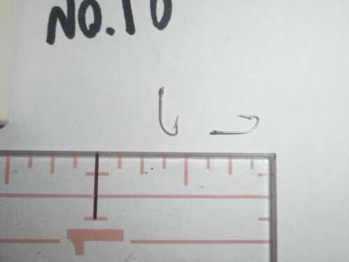 100 MUSTAD no.18 CRYSTAL dry FLY tying HOOKS fine TINNED SMALL RING BULK 31363