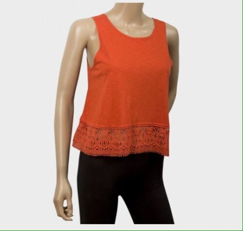 Ex Chainstore- Orange Crop Top Crochet Trim 10 12 /& 16 Bargain Reduced 8 6