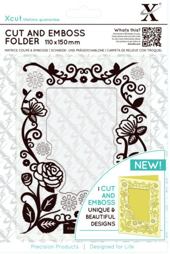 Xcut A6 Cut and Emboss combination die cutting /& embossing folder FLORAL FRAME