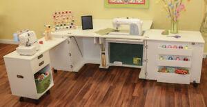 Aussie Sewing Cabinet in Teak Kangaroo Kabinets
