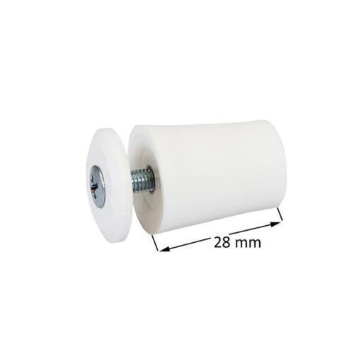 weiß 10 x Rollladen Anschlag Anschlagstopper Anschlagpuffer Endpunkt 28mm