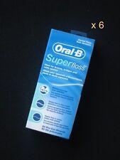 Oral B Superfloss Dental super floss 50m (54.7 yd ) x 6 for braces bridges