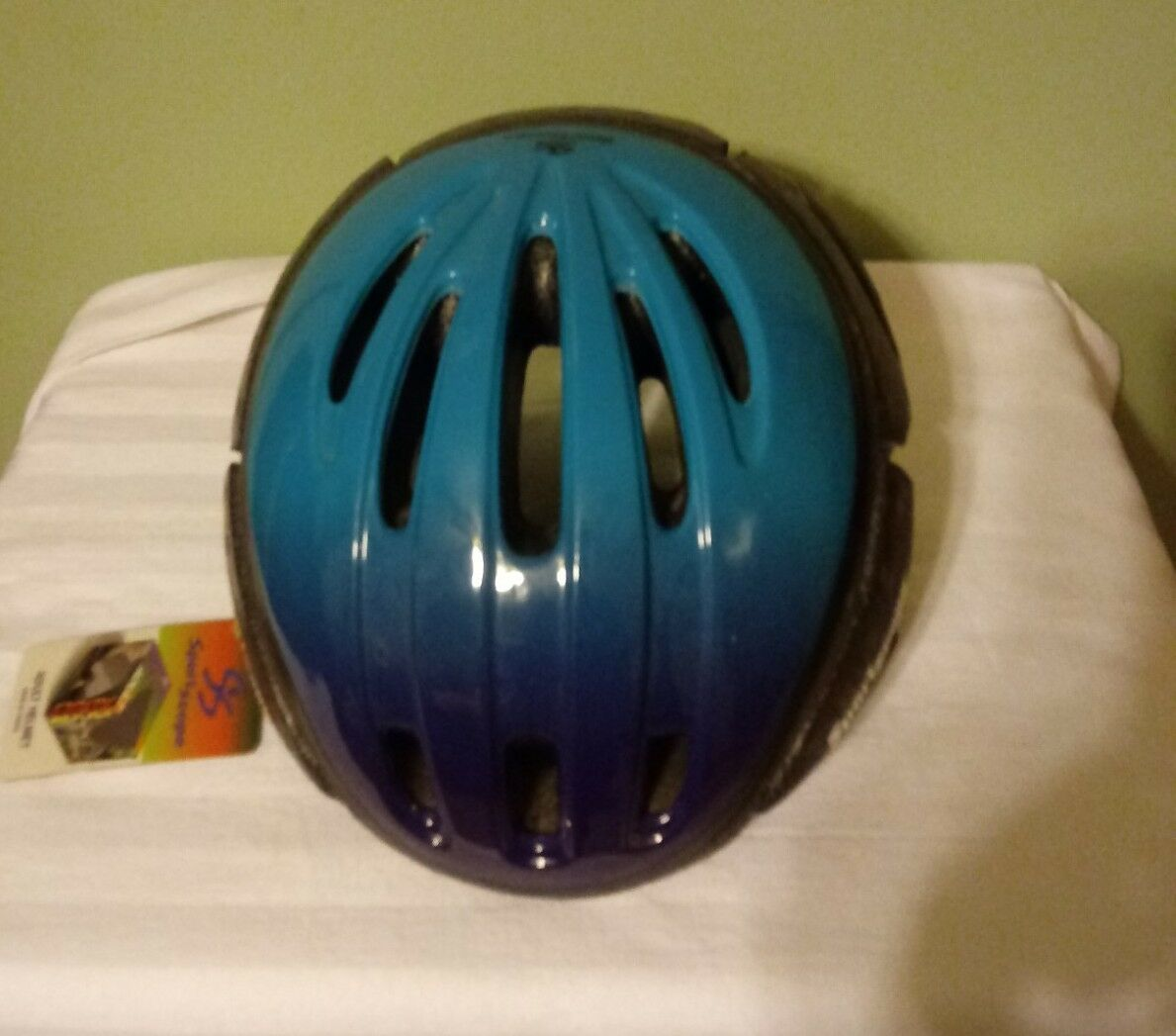 Sportscope Adult viola Tourquoise bike helmet (nuovo with Tags)